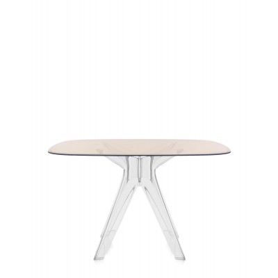 SIR GIO TABLE CARREE STRUCTURE TRANSPARENTE