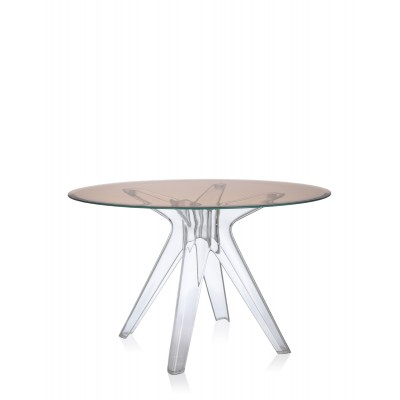 SIR GIO TABLE RONDE STRUCTURE TRANSPARENTE
